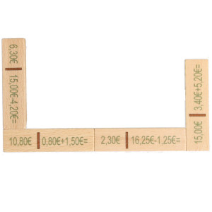 Lernspielzeug Rechendomino Euro BxHxT 20x16,5x3cm NEU