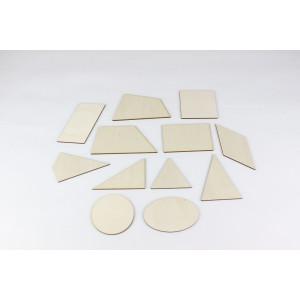 Lernspielzeug 12 Geometrische Formen Höhe 5-10cm NEU