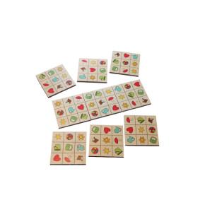 Holzspielzeug SudoMix Kartenlegespiel BxHxT 18,5x10x4cm NEU