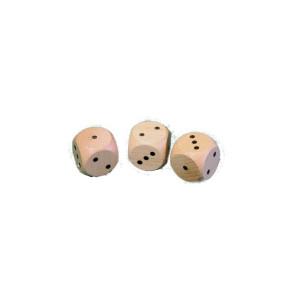 Holzspielzeug 10 Holzwürfel Spielewürfel BxHxT 2,9x2,9x2,9cm NEU