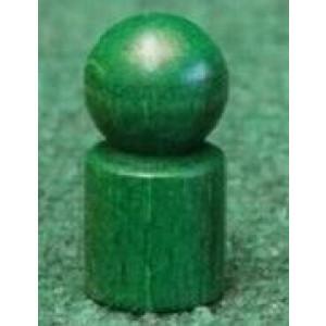 Holzspielzeug Spielemännchen 20 Stück Grün Ø=1,7cm, H=3,5cm NEU