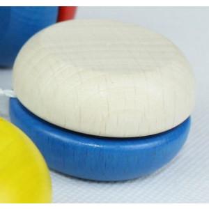 Holzspielzeug Yo-Yo Blau-Weiß BxT 5x3cm NEU