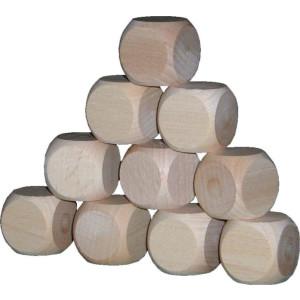 Holzspielzeug 10 Holzwürfel blanko 29er BxHxT 2,9x2,9x2,9cm NEU