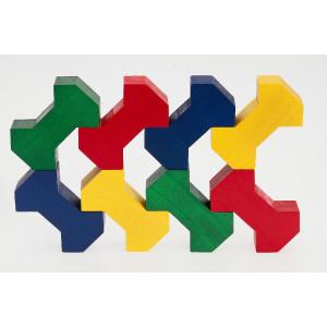Holzspielzeug Bausteinspiel BONE LxBxH 208x158x30mm NEU