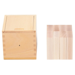 Holzspielzeug Fröbelgaben 4 für Kinderkrippe LxBxH 128x128x131mm NEU