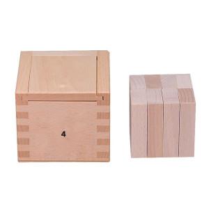 Holzspielzeug Gabe 4 Fröbelspiel 8 Quader (50 x 25 x 12,5 mm) LxBxH 72x72x66mm NEU