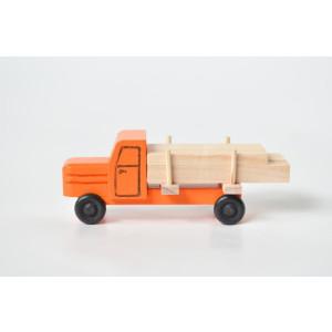 Holzspielzeug Lastenauto Langholz orange HxBxT 3,5x7,5x3cm NEU