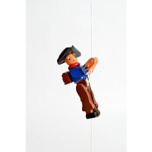 Holzspielzeug Kletterfigur Pirat Höhe=6,5 (Kletterseil ca 45 cm)cm Kletterfigur Weihnachtmann