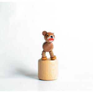 Holzspielzeug Wackelfigur Bär Höhe=7cm NEU