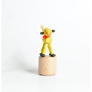 Holzspielzeug Wackelfigur Schaf Höhe=8cm Wackelfigur Dinosaurier rot
