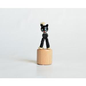 Holzspielzeug Wackelfigur Katze Höhe=8cm NEU