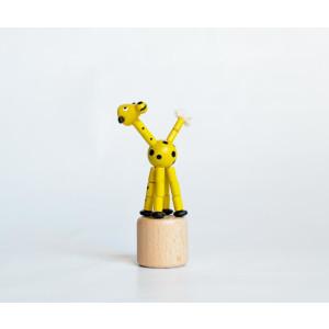 Holzspielzeug Wackelfigur Giraffe Höhe=10cm NEU