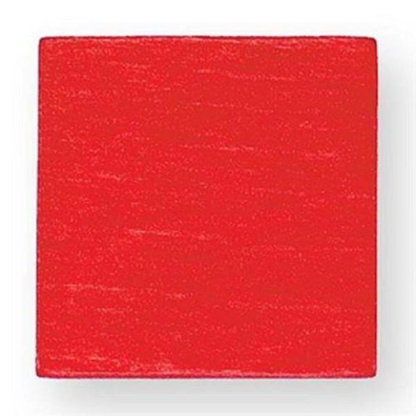 Holzspielzeug Legematerial Quadrat Rot 500 Stück LxB 25x25mm NEU