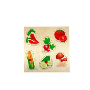 Holzspielzeug Griffpuzzle Gemüse BxLxH 250x20x250mm NEU