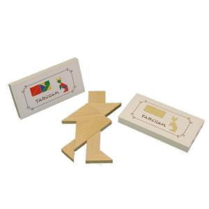 Holzspielzeug Tangram natur BxHxT 15,6x7,8 x1cm NEU